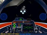 Star Wars: X-Wing (Collector's CD-ROM) Windows Enemy frigate is attacking out cruiser.