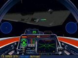 Star Wars: X-Wing (Collector's CD-ROM) Windows Shooting enemy fighter near ISD is a dangerous thing.