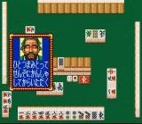 Mahjong Taikai II SNES Looks like he doesn't approve of my playing...