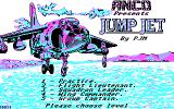 Harrier Mission DOS Title & Menu Screen.
