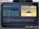 AETI ProFlight 2000 Windows Here the newly compiled adventure is about to be selected from the flight simulator's library.
