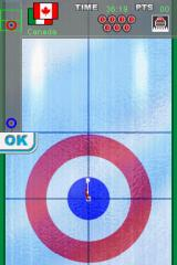 Curling DS Nintendo DS First we set a goal in the target area