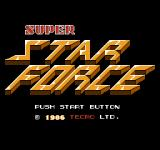 Super Star Force: Jikūreki no Himitsu NES Title screen
