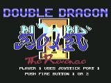 Double Dragon II: The Revenge Commodore 64 Title