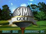 SimGolf Windows Title Screen