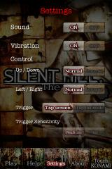 Silent Hill: The Escape iPhone The settings menu.