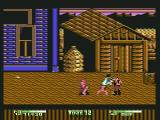 Double Dragon II: The Revenge Commodore 64 Enemy doing a cartwheel to injure you