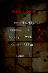 Silent Hill: The Escape iPhone The end of each level shows a statistics screen. Yes, this is hardly an impressive grade...