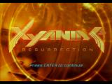 Xyanide: Resurrection Windows Title screen