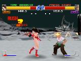 Fatal Fury: Wild Ambition PlayStation Mai is using her fans to attack