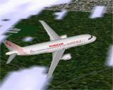 Airbus 2000: Special Edition Windows Tunisair's Airbus A320-211 in Microsoft Flight Simulator 98