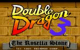 Double Dragon 3: The Rosetta Stone Amiga Double Dragon 3: The Title Screen
