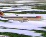 Airbus 2000 (Special Edition) Windows The Airbus A340-313 flying in Microsoft Flight Simulator 98 in Iberian livery