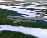 Airbus 2000 (Special Edition) Windows Air China's Airbus A340-313E flying in Microsoft Flight Simulator 98