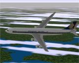 Airbus 2000 (Special Edition) Windows The Airbus A340-313E flying in Microsoft Flight Simulator 98 with Singapore Airline's livery