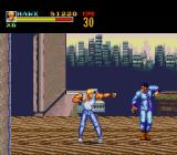 Riot Zone TurboGrafx CD The first boss battle...