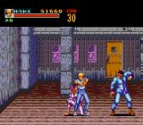 Riot Zone TurboGrafx CD ...has two stages; an annoying female boss helps her boyfriend here