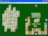 Swift Classics: Mahjongg Magic For Windows Windows Here the player has run out of available moves and has shuffled the tiles. This results in a casual game with a plain background.