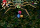 Magic Knight Rayearth SEGA Saturn Boss battle against a giant spider