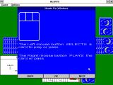 Hearts for Windows Windows 3.x Help / Instructions screen.