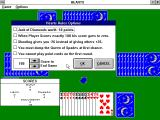 Hearts for Windows Windows 3.x Custom rule setting screen.