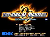 US title screen & main menu, Millennium Battle appears on this version