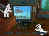Disney's 102 Dalmatians: Puppies to the Rescue Windows The game's menu. Left/right arrows switch between levels. Up/down arrows switch between the main game, mini games, options etc