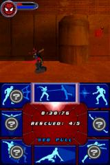 Spider-Man 2 Nintendo DS Time your button press right and you can slow down time and improve your reactions in combat.