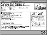 Custer's Last Command DOS Options screen