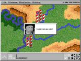 Custer's Last Command DOS Main game screen