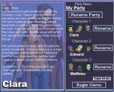 The Spirit Engine Windows Selecting your party members to start a new game (details on).