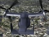 International Fighters Windows Flight Simulator X: This is the Mv-22 Osprey in USAF livery, the wings have been rotated in flight using the controls on the central console of the virtual cockpit.