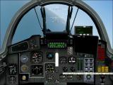 International Fighters Windows Flight Simulator 2004: This is the Mig-29A Fulcrum's 2D cockpit