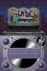 The Urbz: Sims in the City Nintendo DS The title screen.