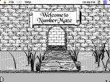 NumberMaze Macintosh Title screen