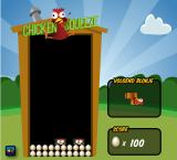 Chicken Squeeze Browser When a line is made, the chickens turn into eggs.