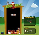 Chicken Squeeze Browser <i>Tetris</i> is an inventive idea to explain how chickens are put together in battery cages.