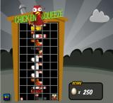 Chicken Squeeze Browser Game Over, the screen turns grey.