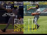 RBI Baseball '95 SEGA 32X Pitcher substitution