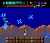 Valis III TurboGrafx CD The princess fights this boss with well-placed and cool-looking blue magical discs