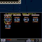 Aquales Sharp X68000 Weapon selection screen