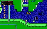 Commander Keen 5: The Armageddon Machine DOS I shoot at that pesky enemy and miss. I nonchalantly leave the essential diamond behind (EGA)