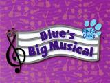 Blue's Clues: Blue's Big Musical PlayStation Title screen.