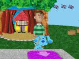 Blue's Clues: Blue's Big Musical PlayStation Steve and Blue start looking for clues by the stage.