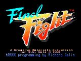 Final Fight Amiga Title