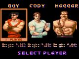 Final Fight Amiga Select Player