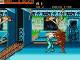 Final Fight Amiga Getting beaten up on the train