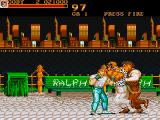 Final Fight Amiga Fighting on the streets at night