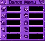 Shantae Game Boy Color Dance menu (blank, not to spoil anything)