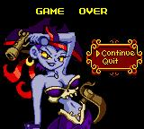 Shantae Game Boy Color Game over